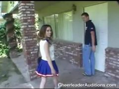 Petite brunette cheerleader with tiny tits rides dick videos