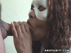 Masked amateur wife sucks cock with facial movies at kilopics.net