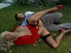 Sex in the grass with well dressed euro slut movies at freekilopics.com