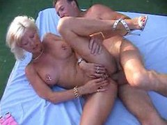 Heavily pierced mature blonde fucked outdoors movies at freekiloclips.com
