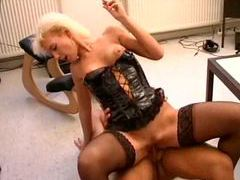Leather corset hot on this fuck slut movies at find-best-pussy.com