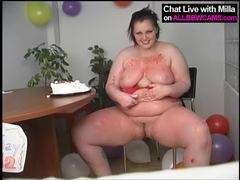 Bbw bday candles in pussy chubby ass movies at kilosex.com