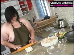 Bbw bakes apple pie and then..suprise ! 1 movies at sgirls.net