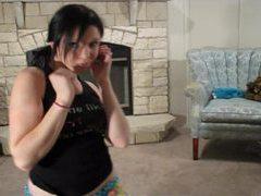 Lustful rylie dance in her cute blue panties videos