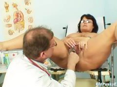 Fat mature loves exams with her doctor videos