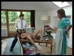Retro beauty sucks cock and gets pussy licked videos