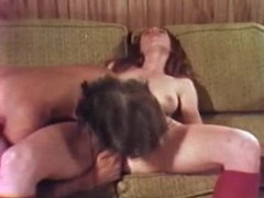Cute young redhead in vintage oral porn movies at lingerie-mania.com