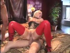 Latex clad slut fucked in dp movies at find-best-lingerie.com