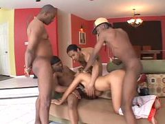Many big black cocks for perfect white pussy movies at freekilomovies.com