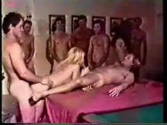 Retro gangbang of a cute and eager young slut videos