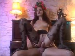 Beauty in ripped pantyhose fucked in the ass movies at freekilosex.com
