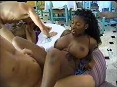 Seductive busty ebony gets her pierced pussy fucked videos