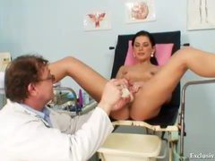 Slender teen in socks gets doctor exam movies at find-best-ass.com