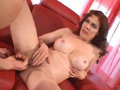 Redheaded milf with fake tits fucked hard videos