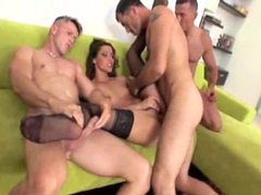 Leggy euro girl turned into gangbang slut videos