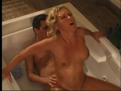 Young guy fucks gorgeous milf in bathtub videos