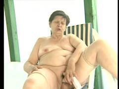 Fat mature masturbating brunette movies at lingerie-mania.com