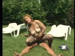 Hairy mature in stockings fucked outdoors movies at adspics.com