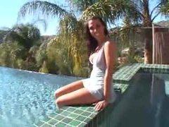 Rachel starr models hot lingerie poolside movies at find-best-tits.com