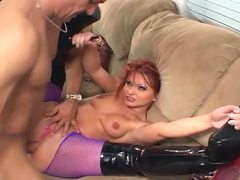 Katja fucking in shiny boots and fishnet pantyhose movies at find-best-hardcore.com