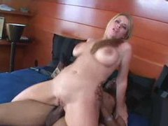 Nice knockers on a blonde having interracial sex movies at sgirls.net