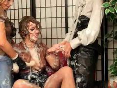 Super messy lesbian strapon sex movies at sgirls.net