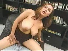 Curvy girl sits sensually on his hard cock videos