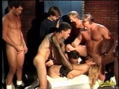 Big cocks gangbang a bitch on her back movies at lingerie-mania.com