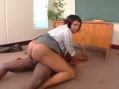 Chubby black teacher fucked in the ass movies at kilosex.com