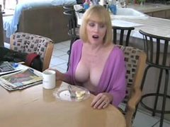 He fucks his mature housewife in kitchen videos