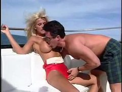 Swimsuit babe laid on a boat movies