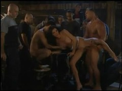 Incredible gangbang with cumshots on tits movies at lingerie-mania.com