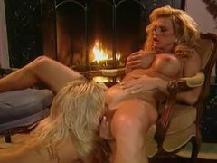 Two super glamorous blondes eat pussy videos
