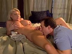 He sensually eats out gorgeous busty blonde movies at freekiloclips.com