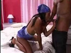 Oral foreplay scene with sexy black babe videos