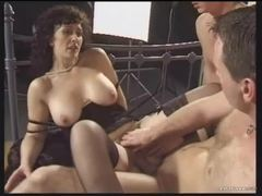 Retro threesome with naughty brunette milf videos