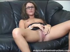 Glasses girl masturbation instruction and humiliation movies at find-best-pussy.com