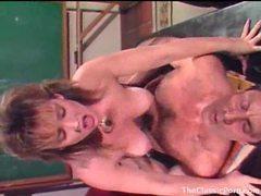Intense hardcore sex on a desk videos