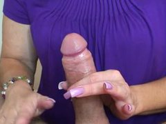 Pretty wife gives erotic handjob videos