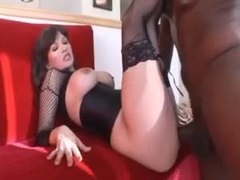 Fishnets and corset on perfect black cock slut movies at find-best-ass.com