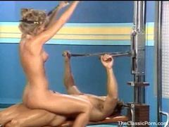 Fucking an 80s gym girl in retro video movies
