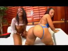 Two damn fine big ass black bitches hardcore threesome movies at freekiloclips.com