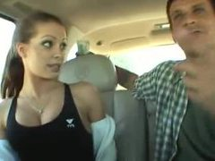 Cute sporty girl in a car sucks cock videos
