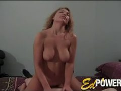 Amateur sucks and rides small cock tubes