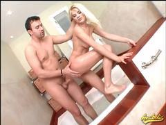Butt fucked blonde done in the bathroom movies at relaxxx.net