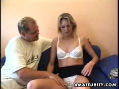 Blonde amateur girlfriend sucks and fucks with cumshot videos