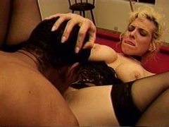 Black man stuffs milf on a pool table movies at relaxxx.net