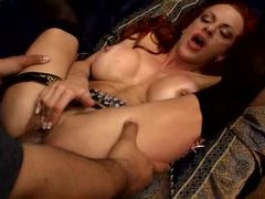 Interracial with a redheaded slut videos