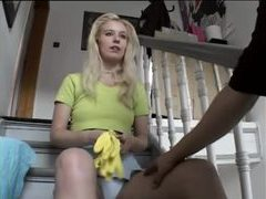 Teen in a skirt fingered lustily movies at lingerie-mania.com