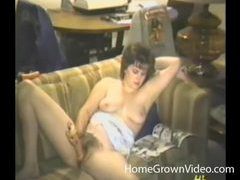 Double dildo action with a retro chick videos